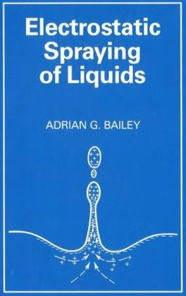 [book cover, bursting bubble sends out a fluid jet when waves  collide in the center, where droplets are positively charged.]